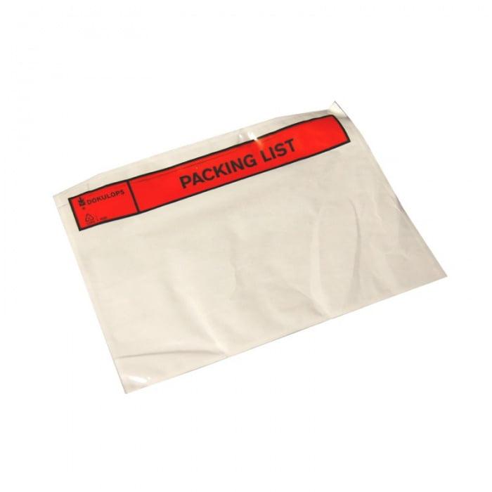 Paklijst Enveloppen C5  bedrukt (Packinglist)