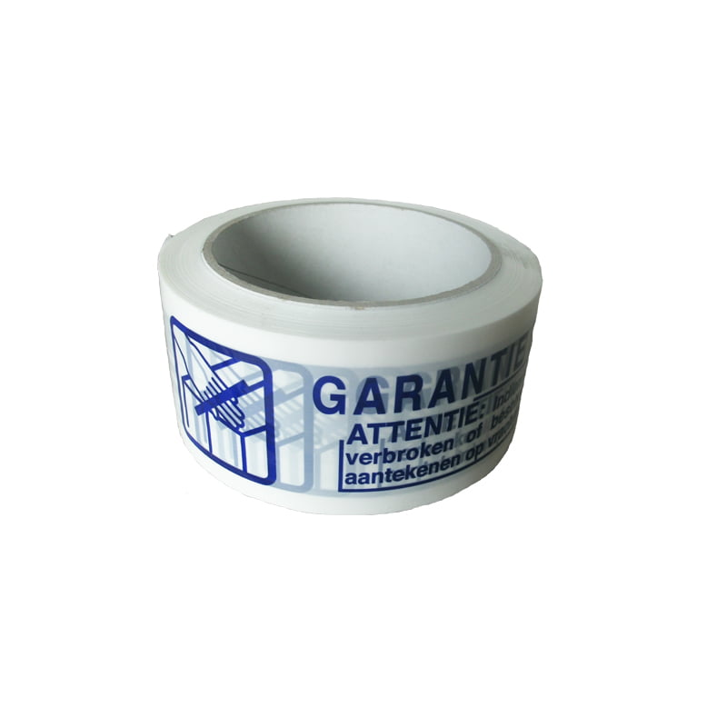 "50mm PP Tape Wit ""Garantie"""
