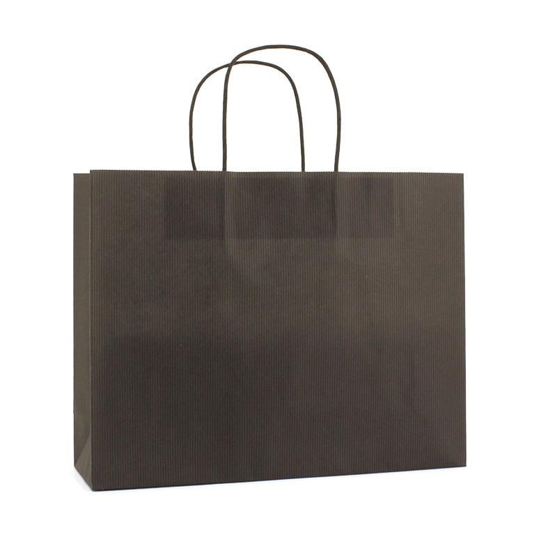 Basic Papieren Tas Deluxe Liggend - Zwart
