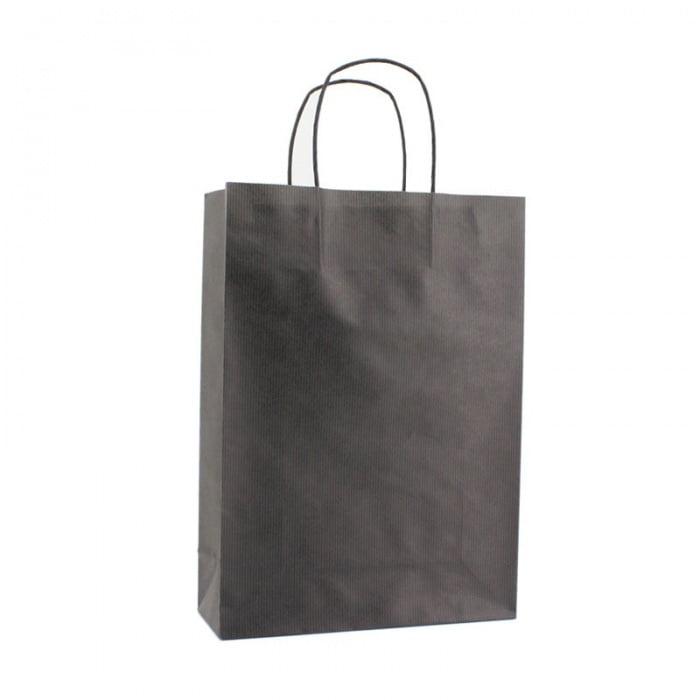 Basic Papieren Tas Deluxe - Zwart