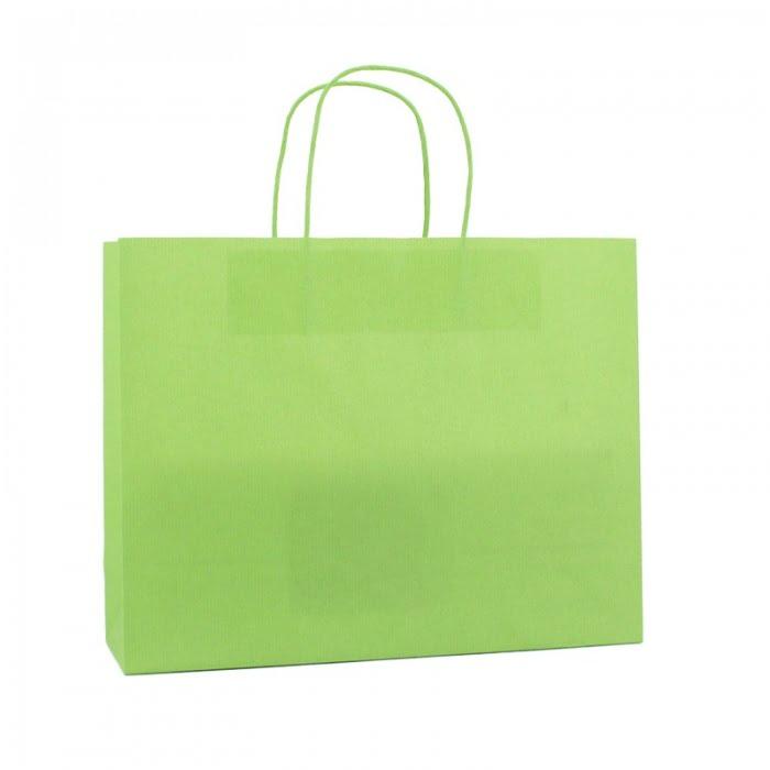 Basic Papieren Tas Deluxe Liggend - Groen