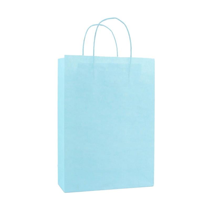 Basic Papieren Tas Deluxe - Aqua Blauw