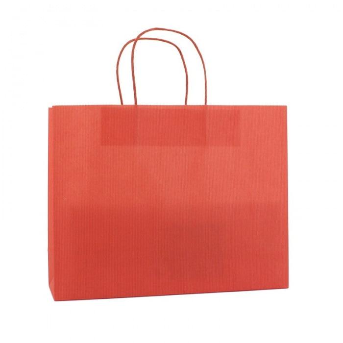 Basic Papieren Tas Deluxe Liggend - Rood