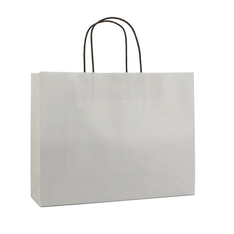 Basic Papieren Tas Deluxe Liggend - Zilver