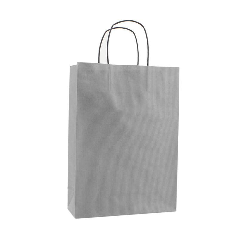 Basic Papieren Tas Deluxe - Zilver