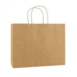 Basic Papieren Tas Deluxe Liggend - Bruin