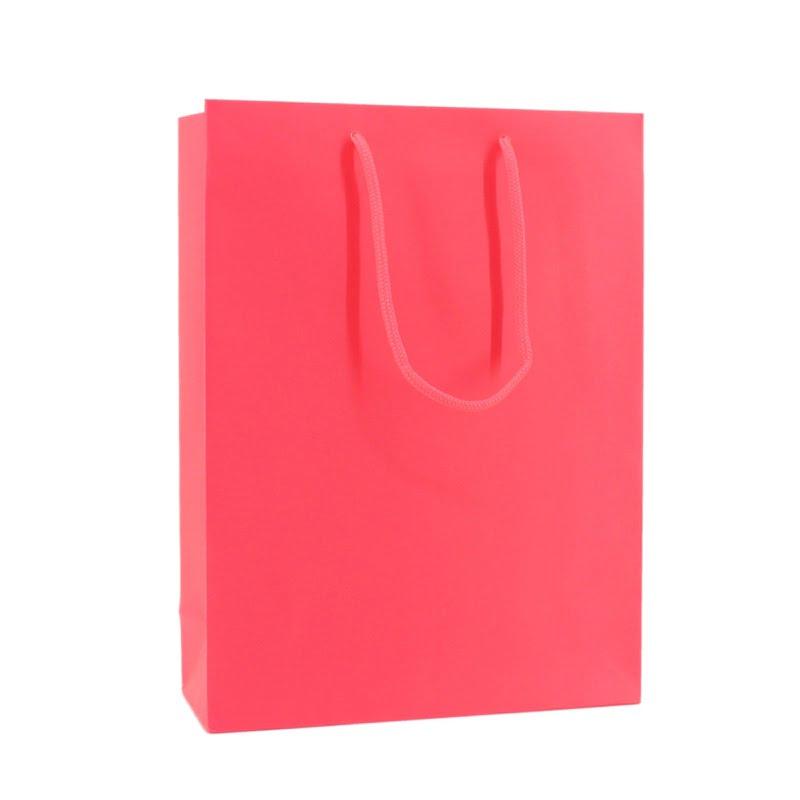 Fluor Papieren Tas - Roze
