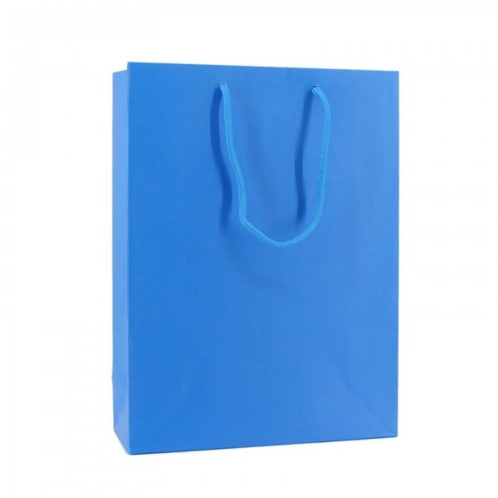 Fluor Papieren Tas - Blauw