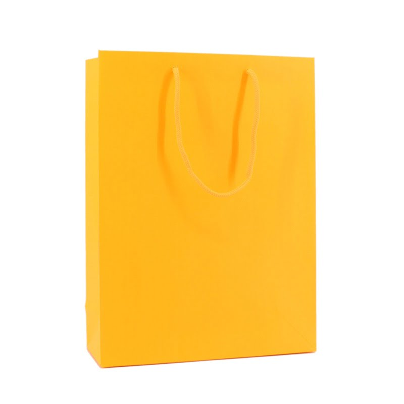 Fluor Papieren Tas - Oranje