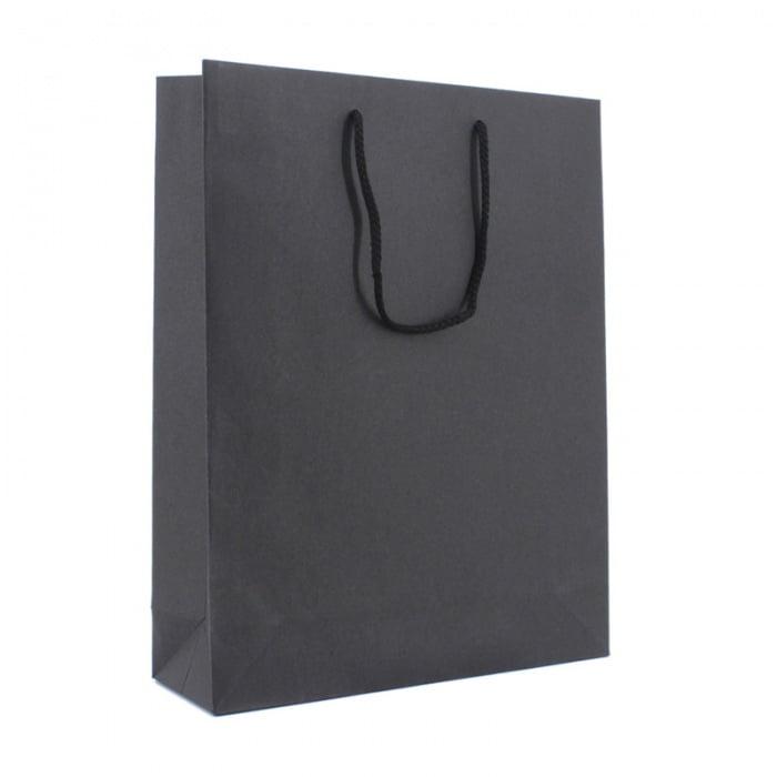 Luxe Papieren Kraft Tas - Zwart