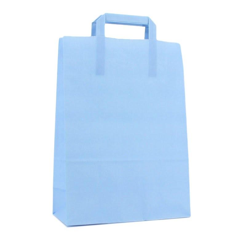Budget Papieren Tas - Hemelsblauw