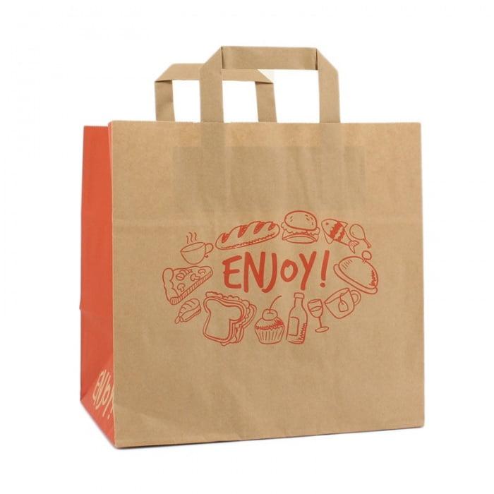 Papieren Take Away Tas - Enjoy Dessin