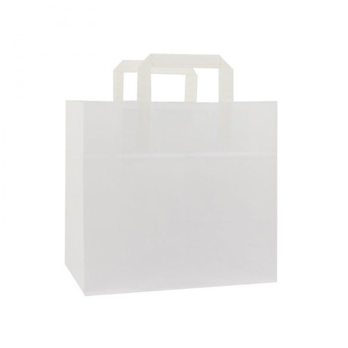 Papieren Take Away Tas - Wit