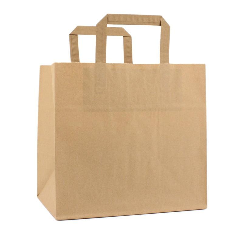 Papieren Take Away Tas - Bruin