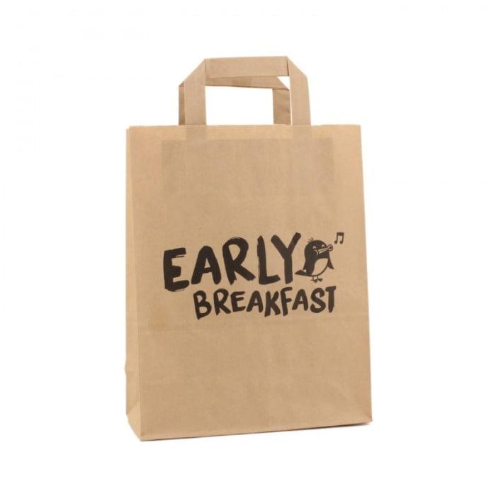 Papieren Take Away Tas - Early Breakfast