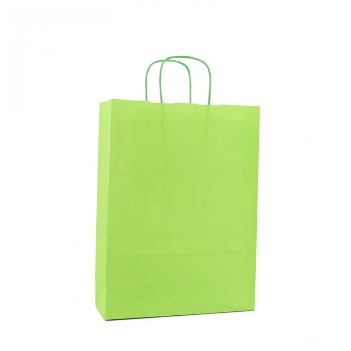 Basic Papieren Tas - Groen