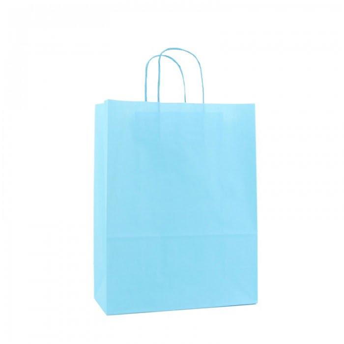 Basic Papieren Tas - Blauw