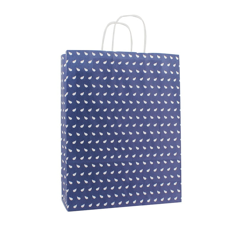Basic Papieren Tas - Wave Dessin