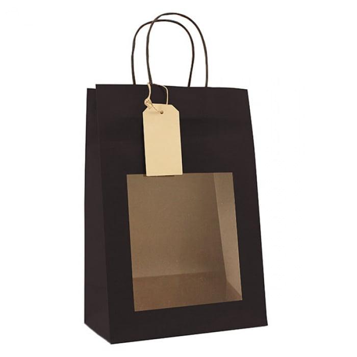Papieren Cadeautas - Zwart