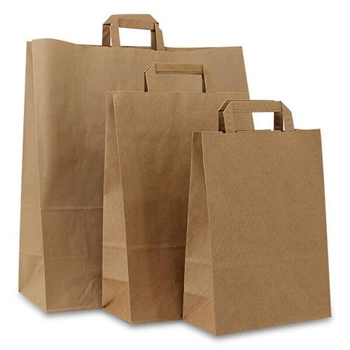 gerecyclede papieren draagtassen